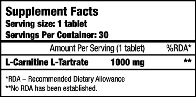 BioTech L-Carnitine 1000 mg 30 db tabletta